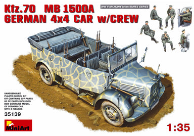 1/35 Miniart Kfz.70 (MB 1500A) German 4x4 Car w/ Crew