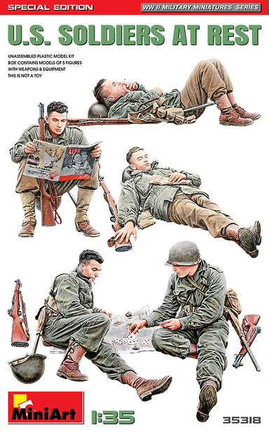 1/35 Miniart US Soldiers at Rest * Special Edition *