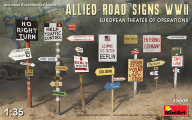 1/35 Miniart Allied Road Signs WWII.European Theatre of Operations