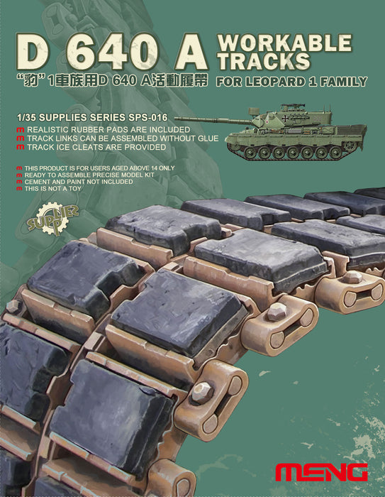 1/35 MENG D 640 A Workable Tracks for Leopard 1