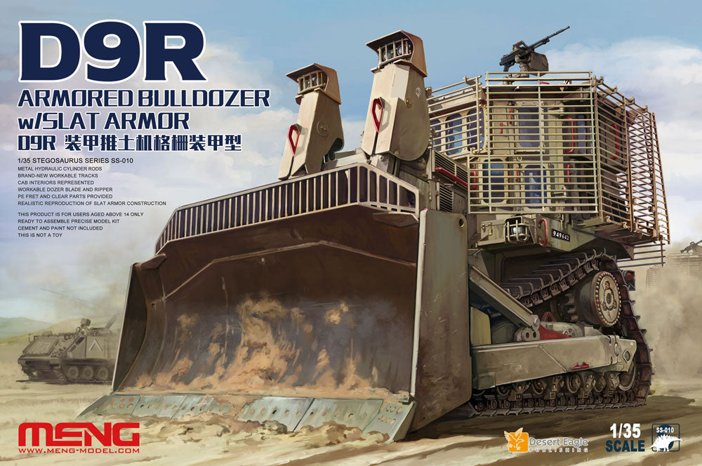 1/35 Meng D9R Armored Bulldozer with Slat Armor
