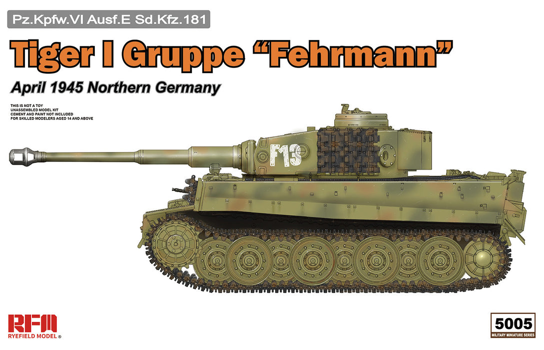 "1/35 Rye Field Models Tiger I Gruppe ""Fehrmann"" April 1945"