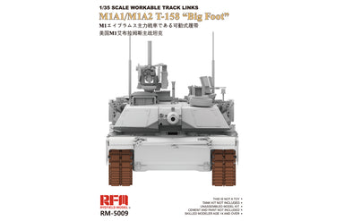 "1/35 Ryefield Model Workable Tracks for  M1A1/M1A2 T-158 ""Big Foot"""