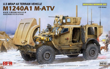1/35 Rye Field Model U.S MRAP All Terrain Vehicle M1240A1 M-ATV with Full Interior