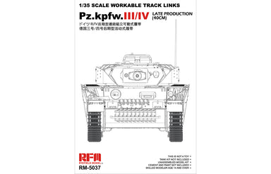 1/35 Ryefield Model Workable Track Links for Pz.III/IV Late Production (40cm)
