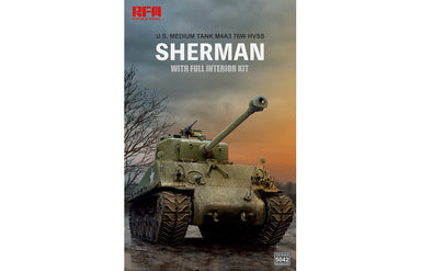1/35 Rye Field Model M4A3 76W HVSS Sherman w/Full Interior & Workable Track Links
