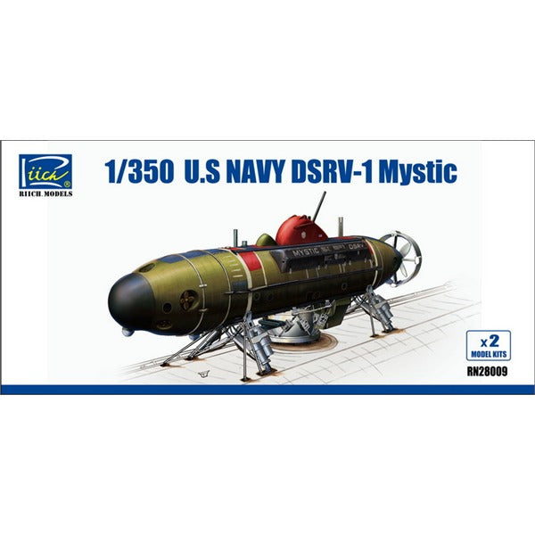 "1/350 Riich DSRV-1 ""Mystic"" (Deep Submergence Rescue Vehicle)"