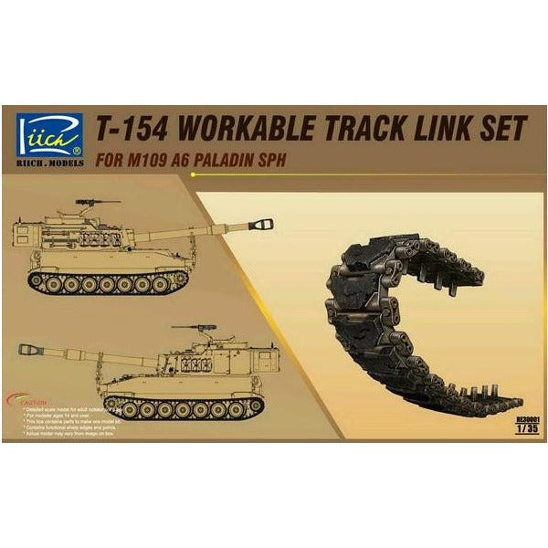 1/35 Riich T-154 workable Track for M109A6 Paladin