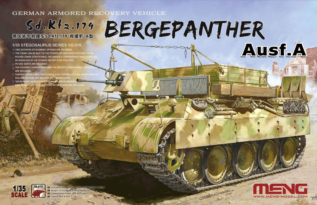 Bergepanther Ausf.A Sd.Kfz.179 (German Armored Recovery Vehicle)