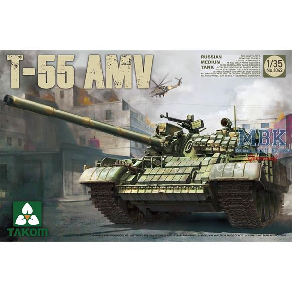 1/35 Takom Russian Medium Tank T-55 AMV