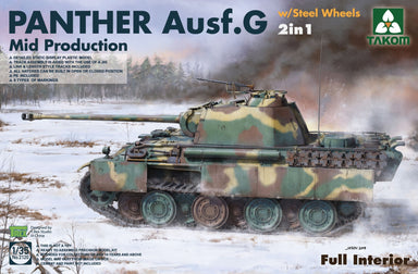 1/35 Takom Panther G Mid Steelwheel 2in1 - full Interior