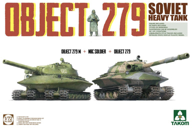 1/72 Takom Object 279 Object 279M + NBC Soldier + Object 279