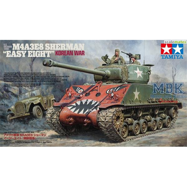 1/35 Tamiya US M4A3E8 Sherman Easy Eight Korea + GAZ67B