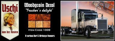 Trucker´s Delight  woodgrain decals