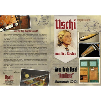 "Uschi Van Der Rosten Woodgrain Decal ""Knotless"" 1/72 - 1/24"