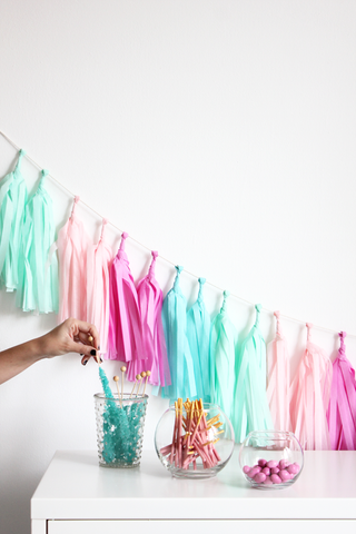 the flair exchange tassel garland