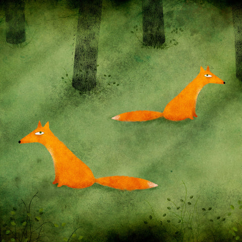 foxes-forest-illustration-print-lumimari-art