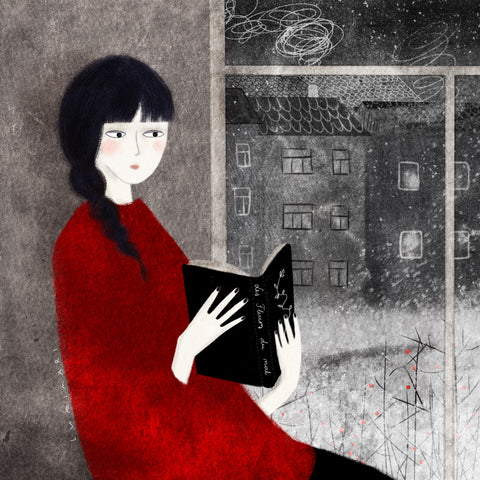Reading ✿ ART PRINT BY LUMIMARI