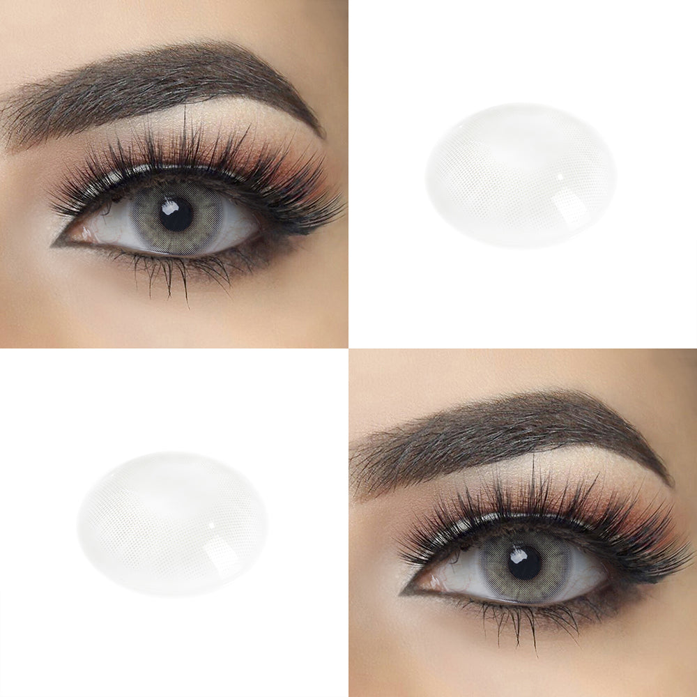 Charcoal Gray color contact lens with eye effect and real shot lens photo