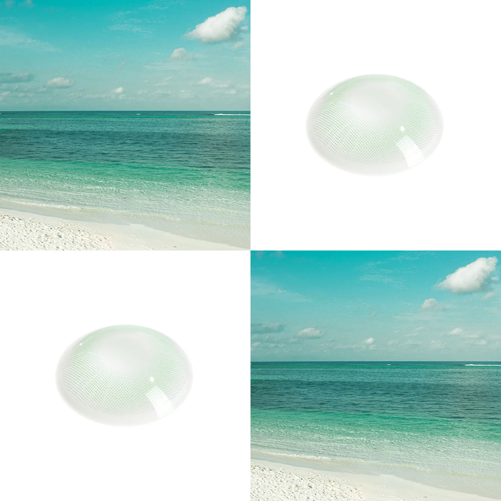 Mint Gray color contact lens with effect picture and real shot lens photo