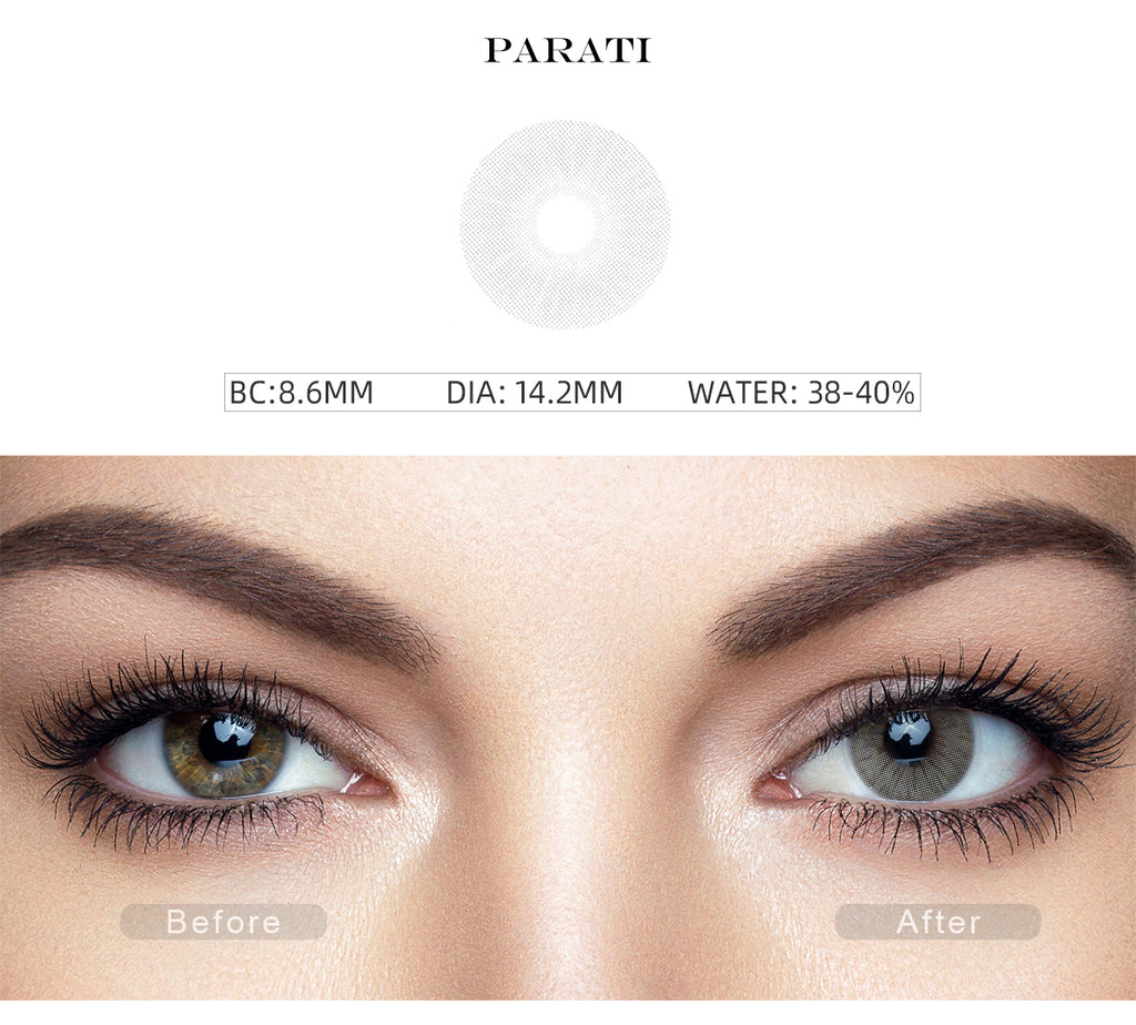 Rio Parati colored contact lenses with before and after photo