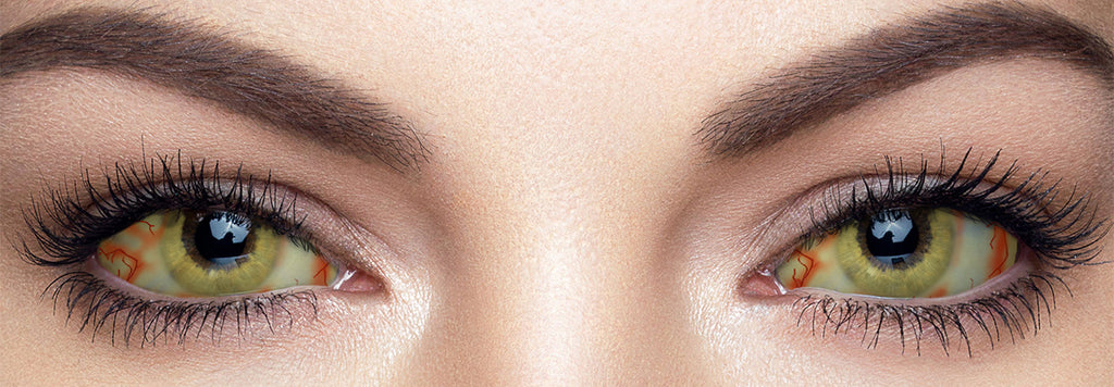 These 22mm sclera contact lenses entirely cover the sclera and iris