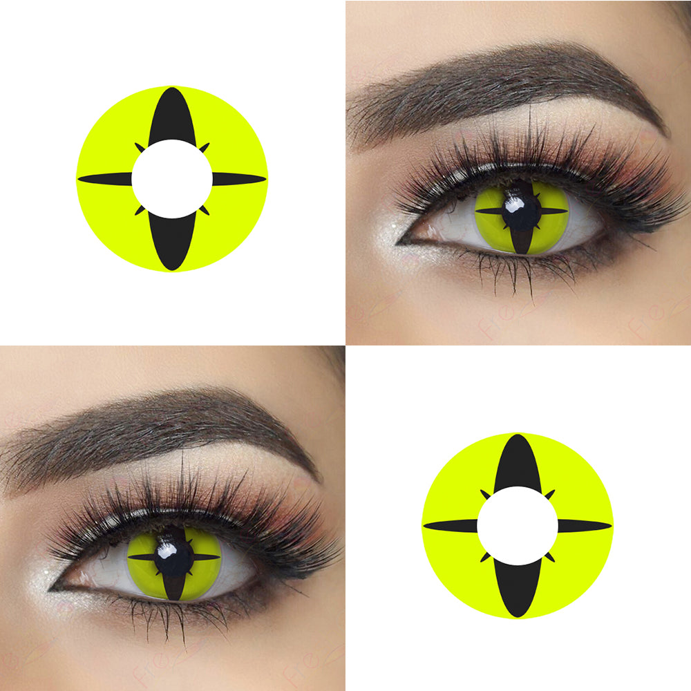 Compass Halloween Contact Lens and Eye Effect Picture