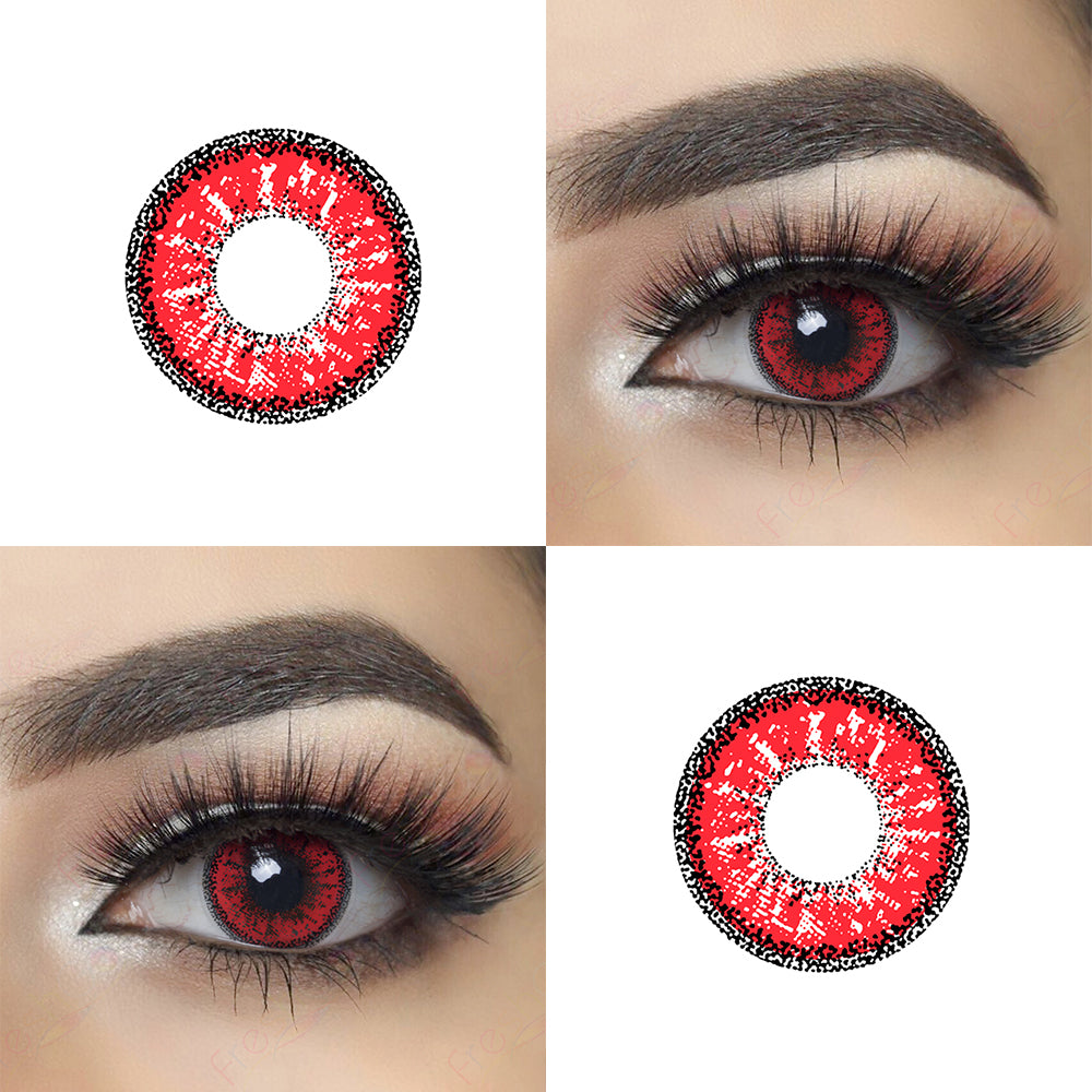 Dolly Eye Red Halloween Contacts and Eye Effect Picture
