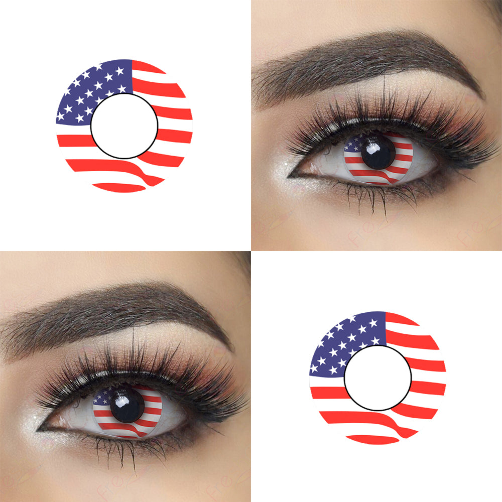 Freedom Territory Halloween Contacts Picture and Eye Effect
