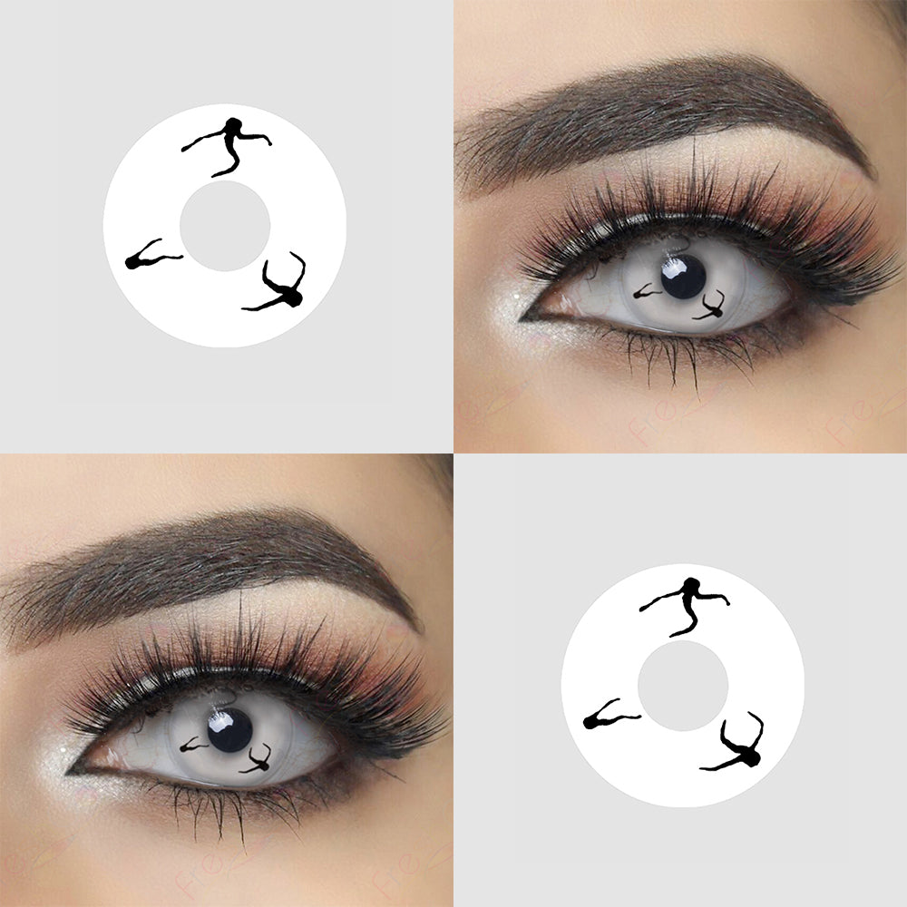 Dancer Ghost Halloween Contact Lens Picture and Eye Effect