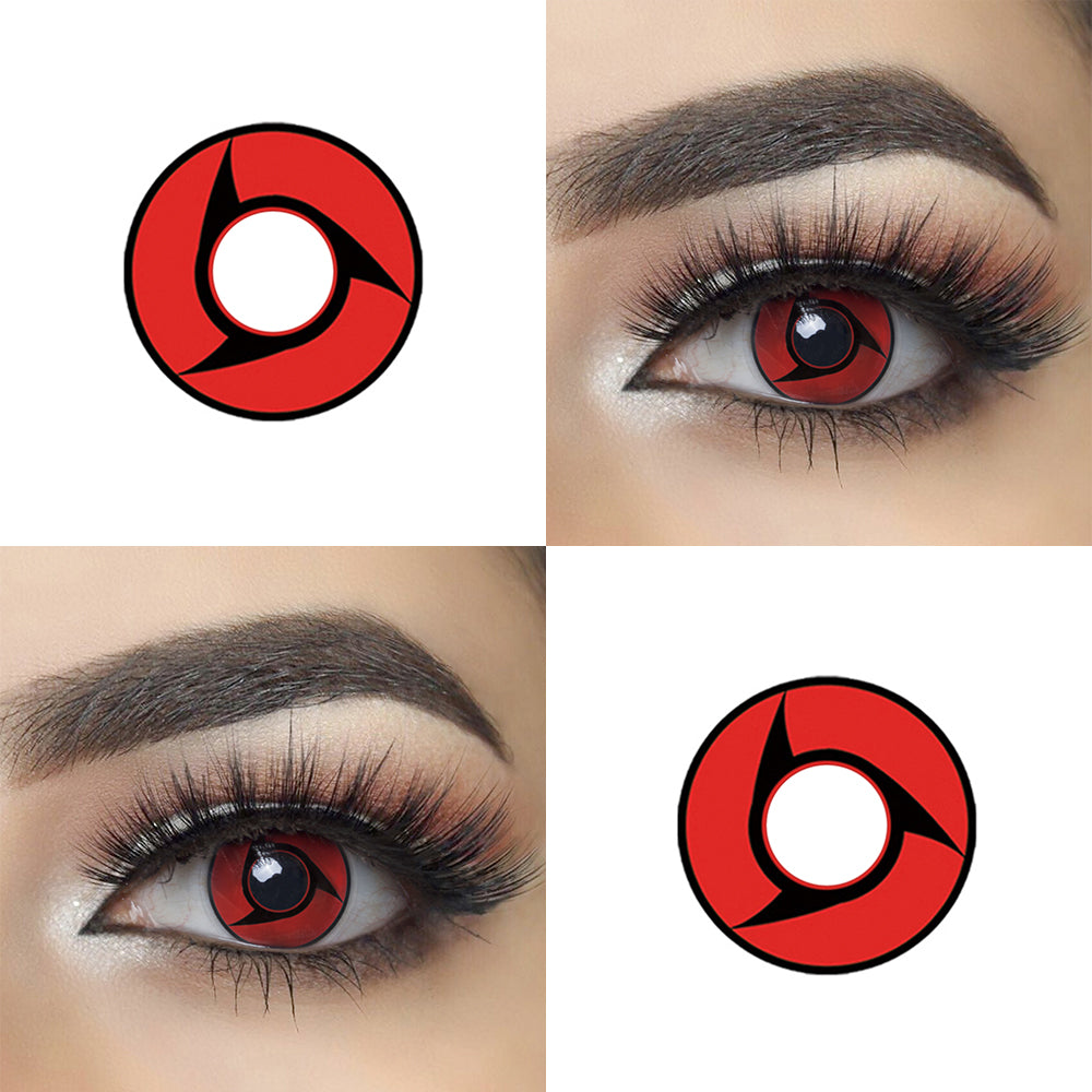 Naruto Itachi Cosplay Contact Lenses Picture and Eye Effect