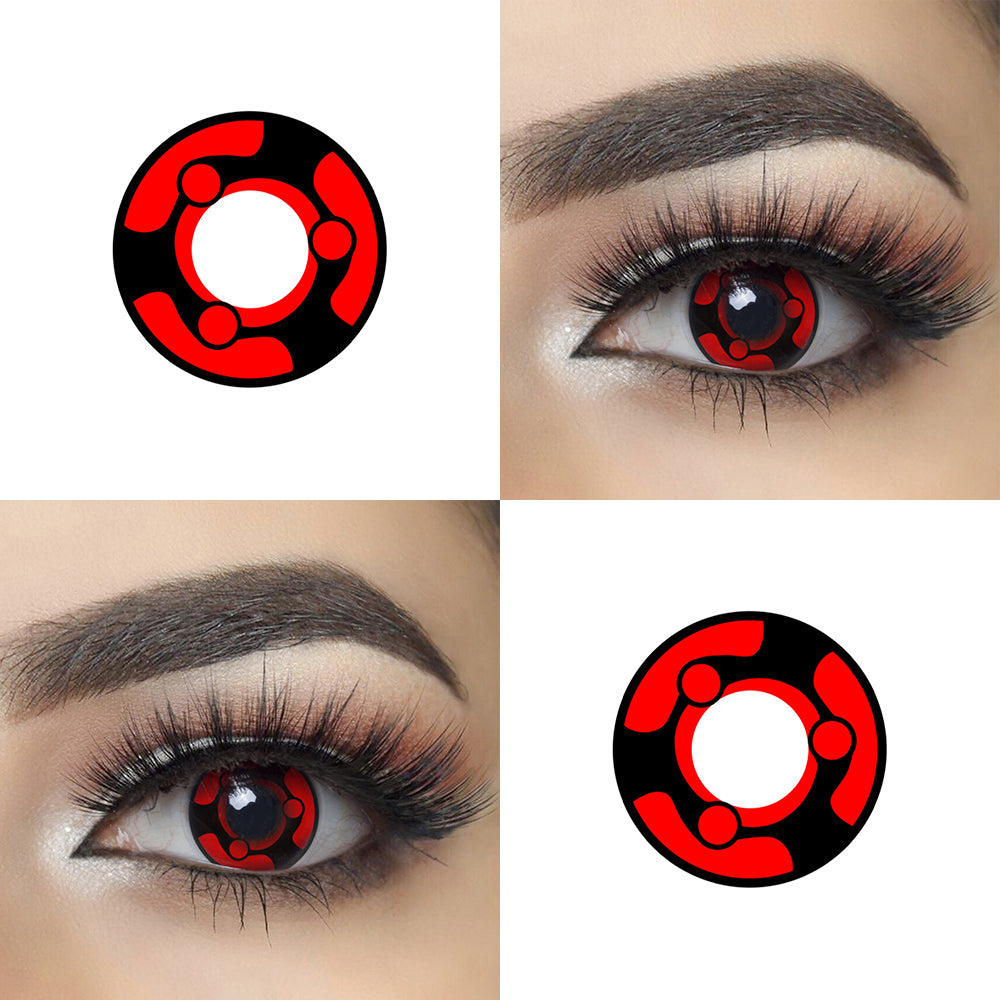 Sharingan Naruto Madara Halloween Contact Lenses Picture and Eye Effect Crazy Looking