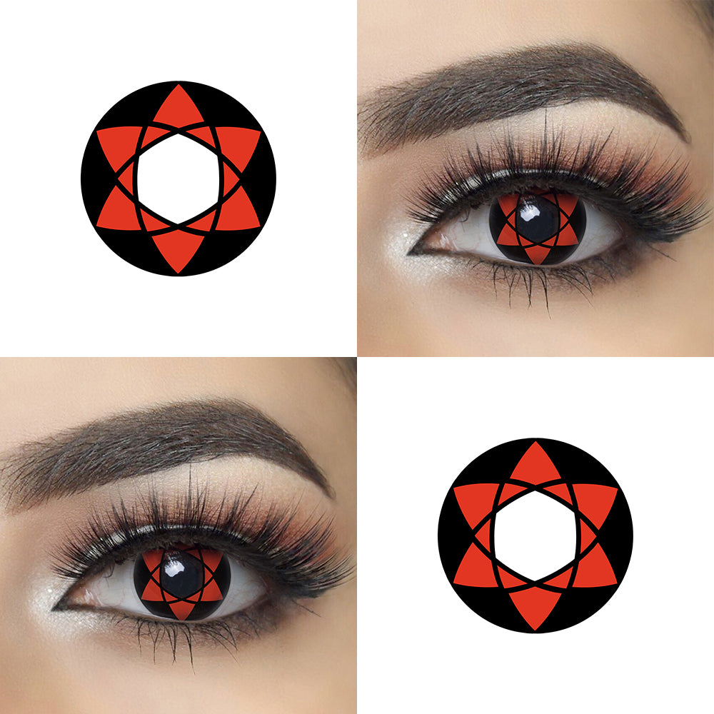 Mangikiu Shalingan Halloween Contacts for Naruto Eye Effect and Lens Picture