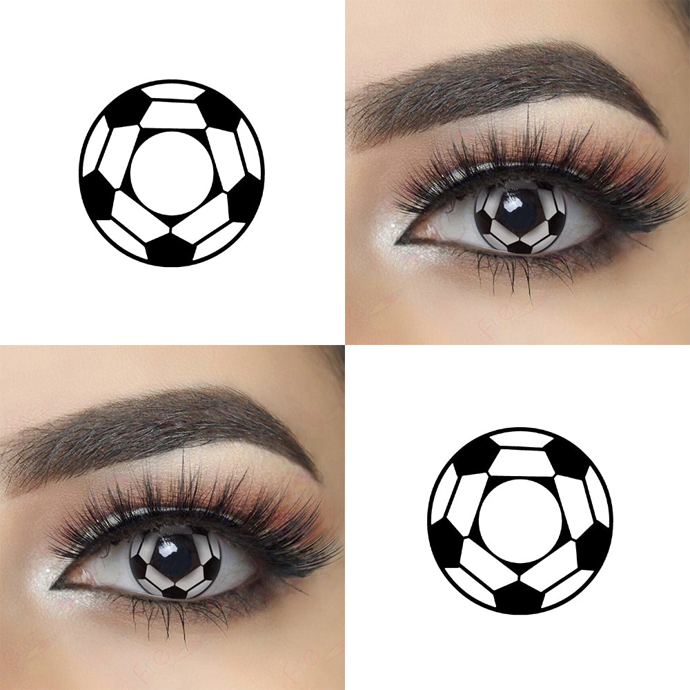 Soccer cosplay contacts with model lens photo