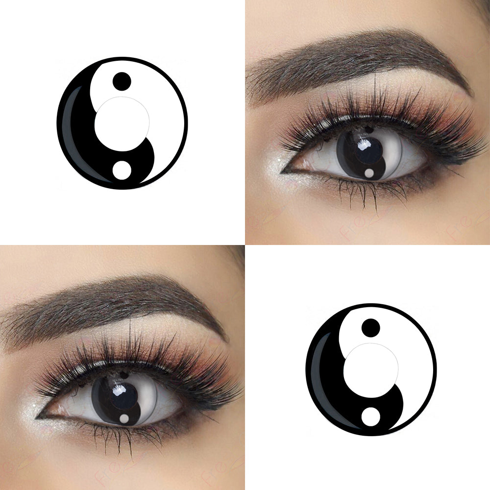 Yin Yang Halloween contacts with eye effect lens photo