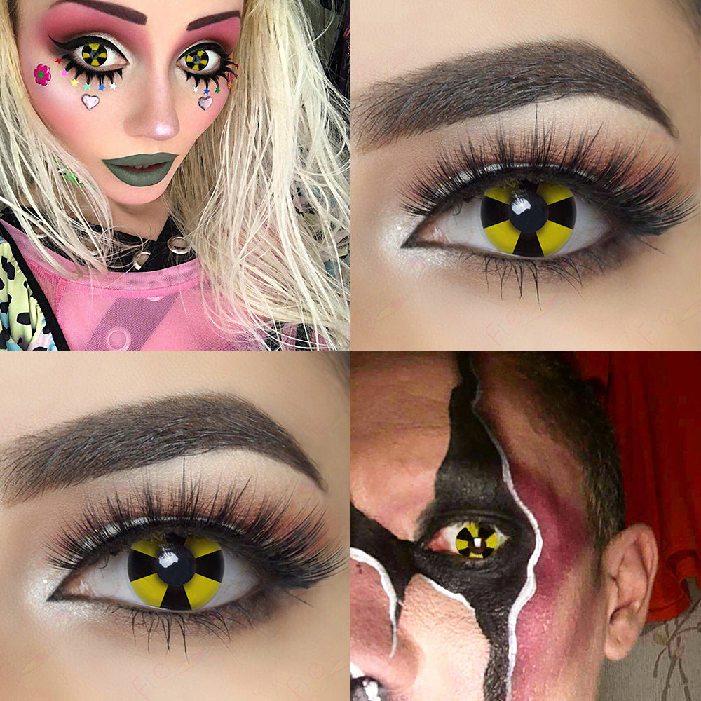 Bio Hazard crazy contacts cosplay looking with model packing lens photo