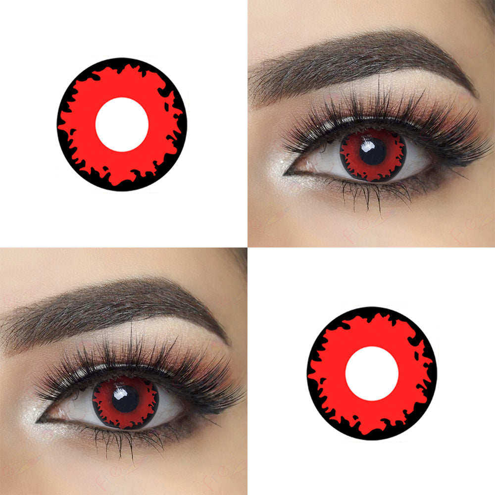 Twilight Volturi Vampire Halloween Contacts Picture of Crazy Lens Eye Effect, Real Shot