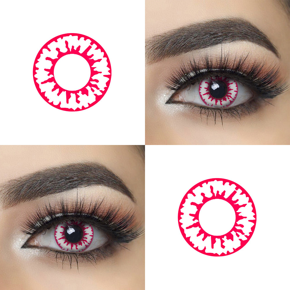 Vampire Eyes Halloween Contacts Eye Effect and Lens Picture