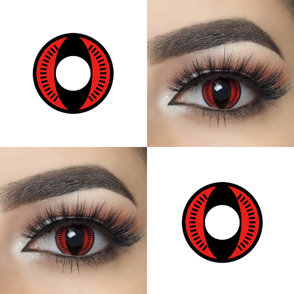 Nine Tails cosplay lenses with eye effect and lens photo