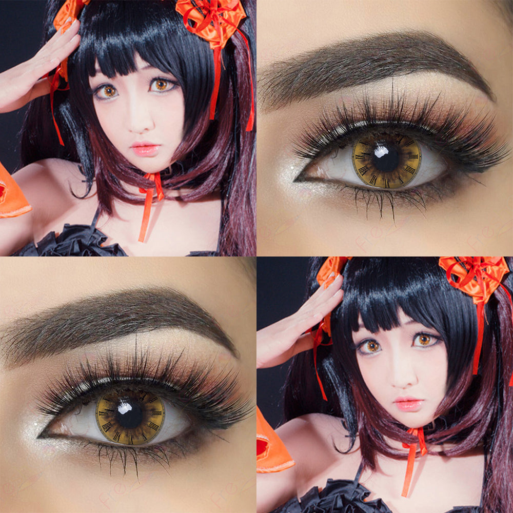 Roman Clock crazy contact lenses model lens photo