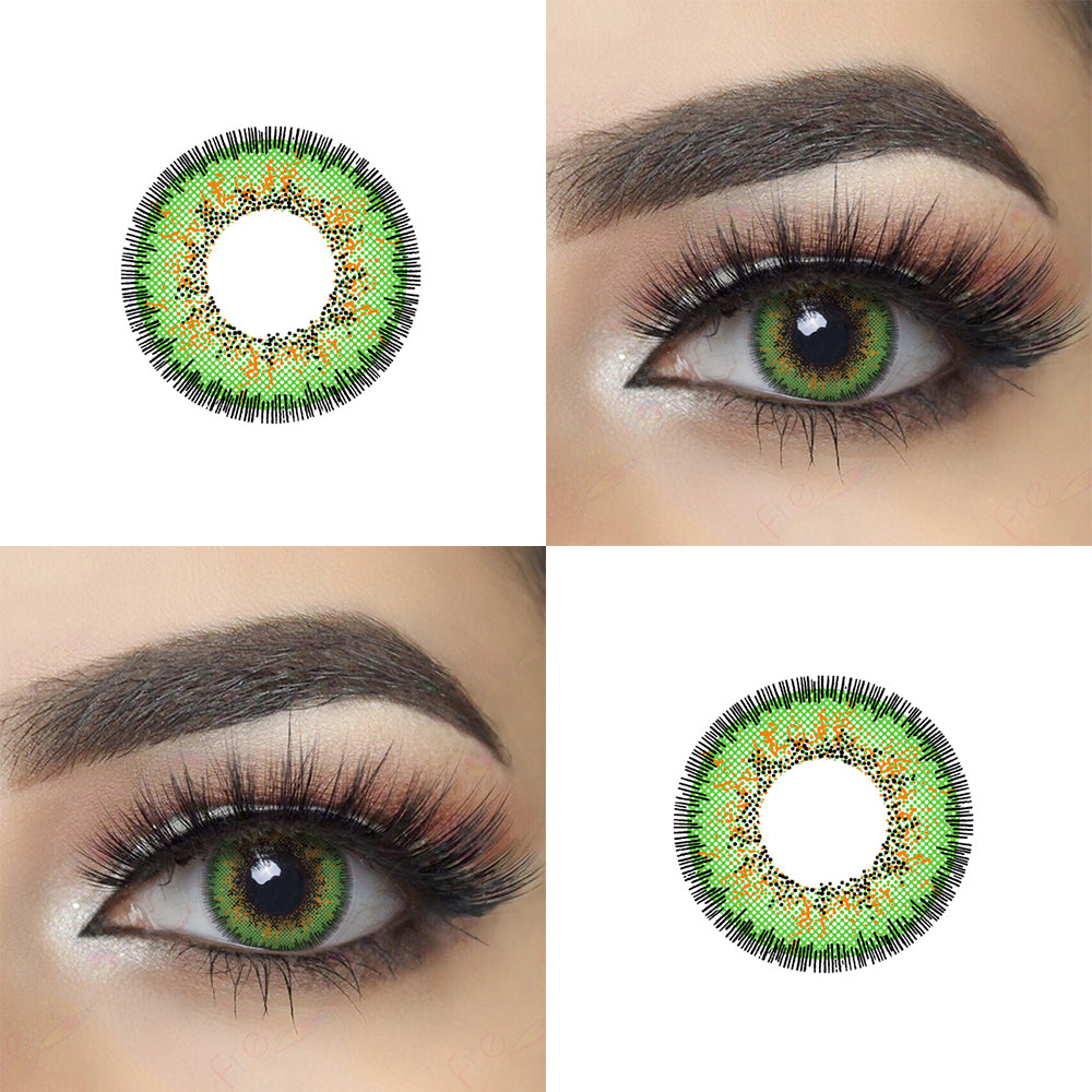 Envy Green Halloween Contacts Picture and Eye Effect
