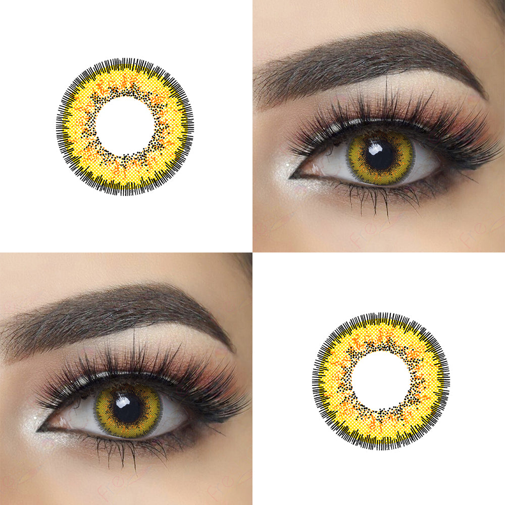 Envy Yellow Halloween Contacts and Eye Effect Picture