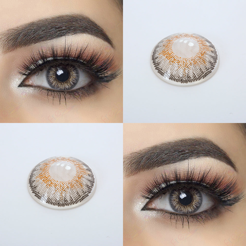 3 Tone Gray Colored Contact Lenses Natural Looking Eye Effect and 14.5 MM Lens Picture