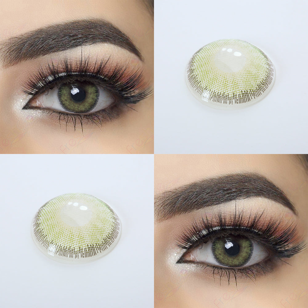 Premium Green Colored Contacts Natural Looking and 14.2 MM Lens Picture