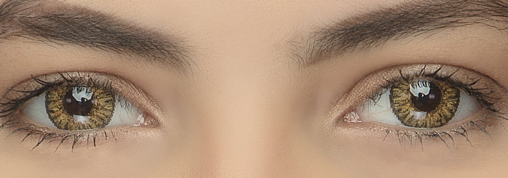 3 Tone Pure Hazel Colored Contacts Natural Looking Effect Picture