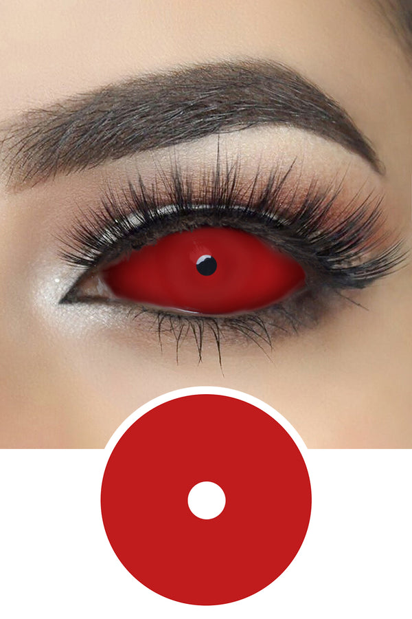 All Red Sclera Lenses
