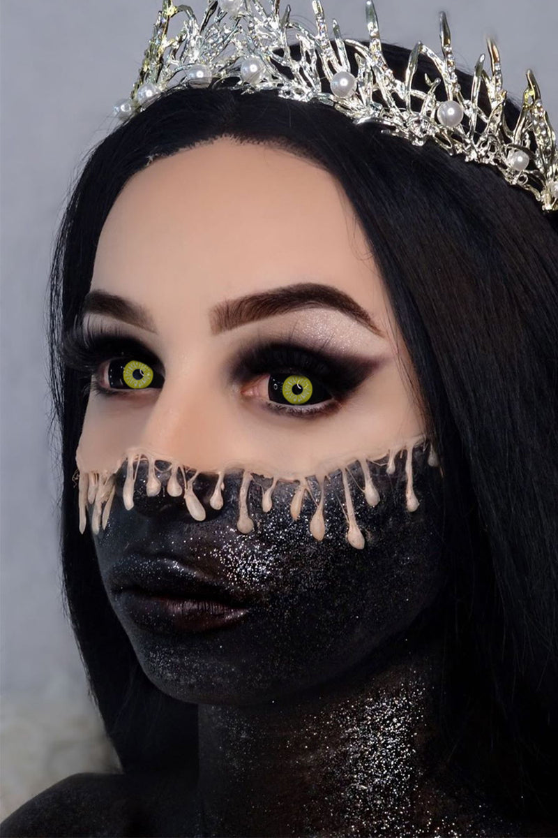 Black and Yellow Sclera Lenses