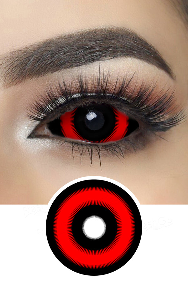 Red Ring Ghoul Sclera Lenses