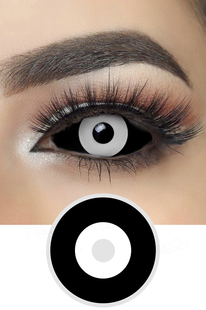 Black and White Sclera Lenses