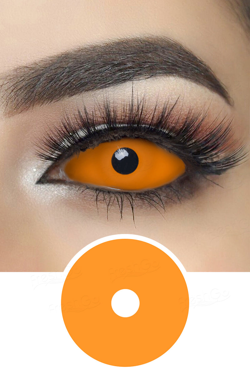 Orange Sclera Lenses
